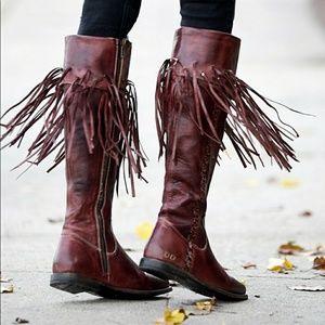 NWT Bed Stu Hoplia Boot Fringe Trim Riding Boots